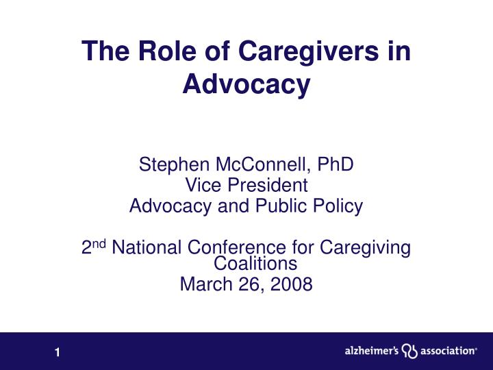 the role of caregivers in advocacy n.