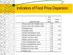indicators of food price dispersion
