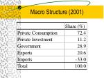 macro structure 2001