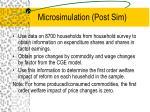 microsimulation post sim