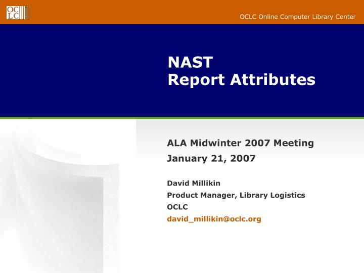 nast report attributes n.