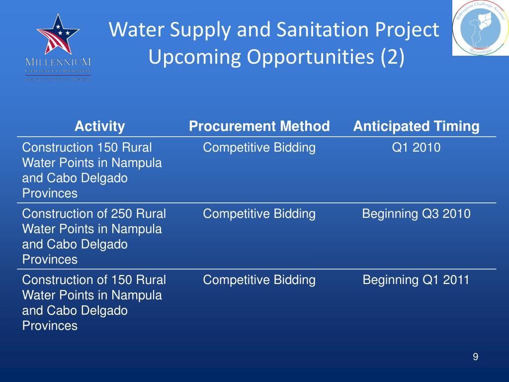 Water Supply and Sanitation Project