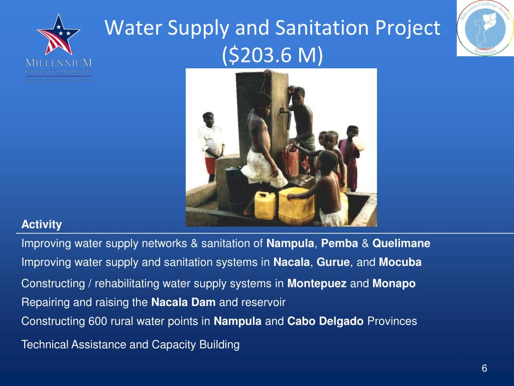 Water Supply and Sanitation Project ($203.6 M)