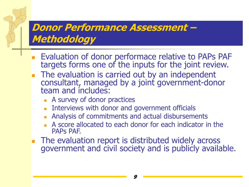 Donor Performance Assessment – Methodology