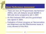 donor performance assessment