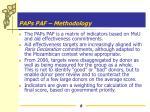 paps paf methodology