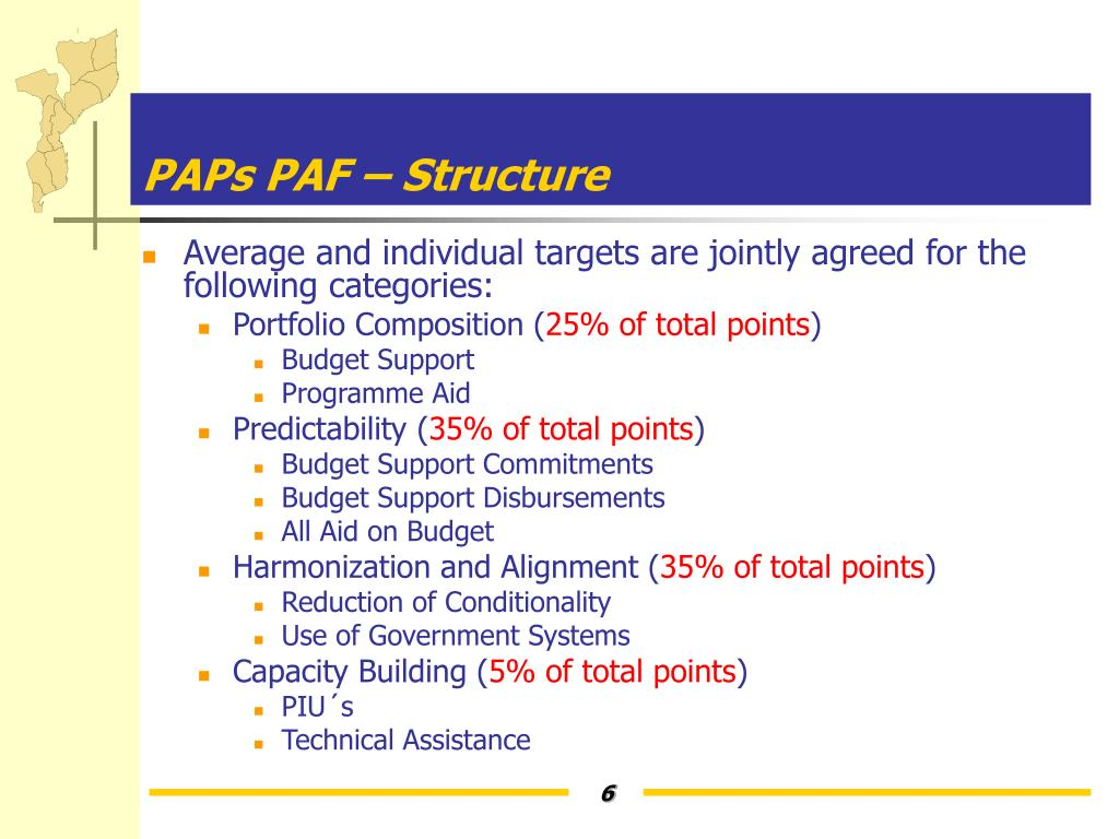PAPs PAF – Structure