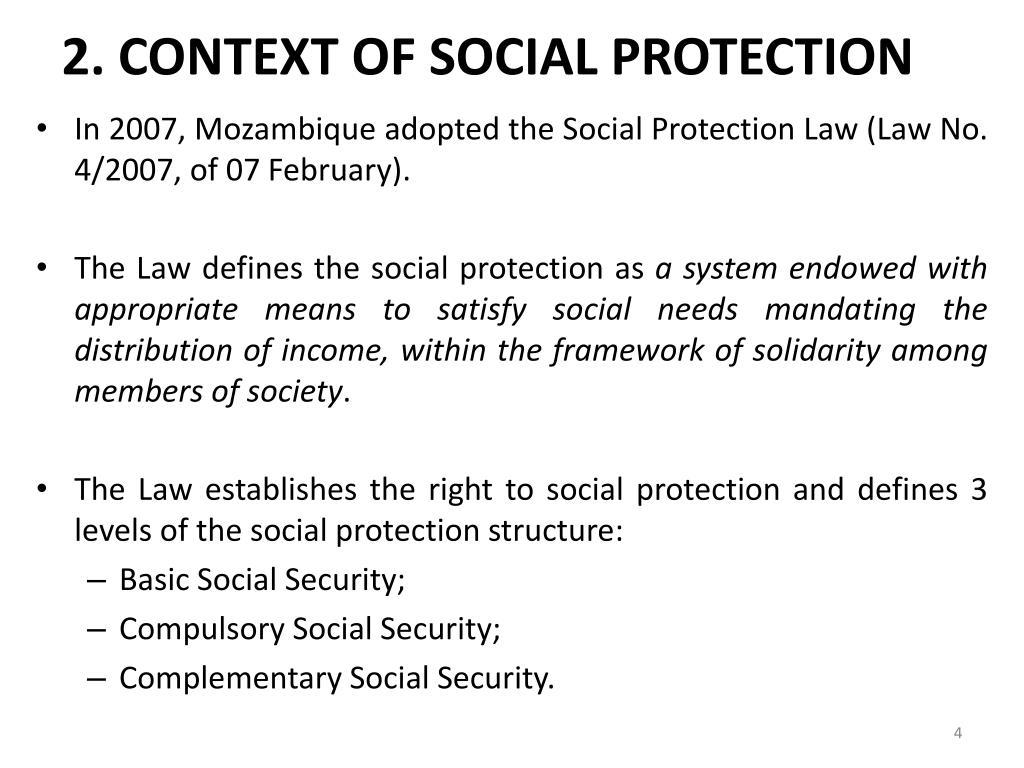 2. CONTEXT OF SOCIAL PROTECTION