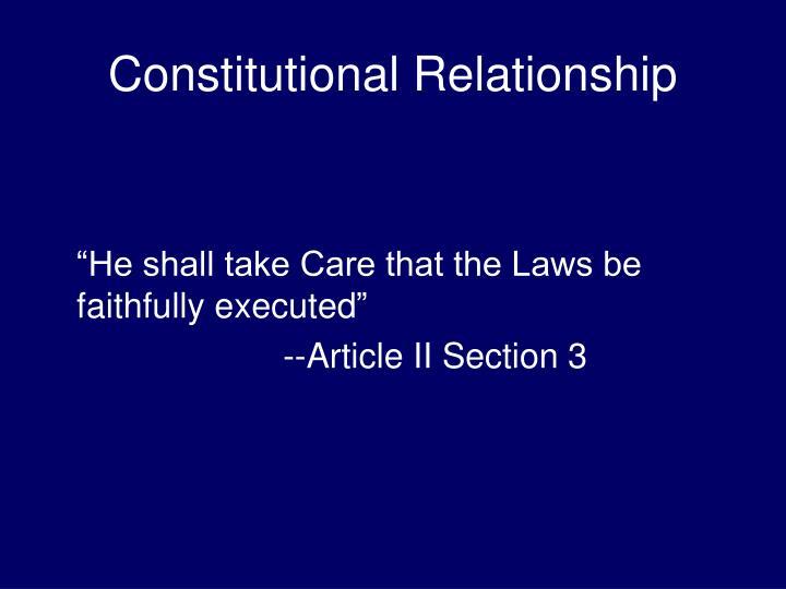 Constitutional relationship1