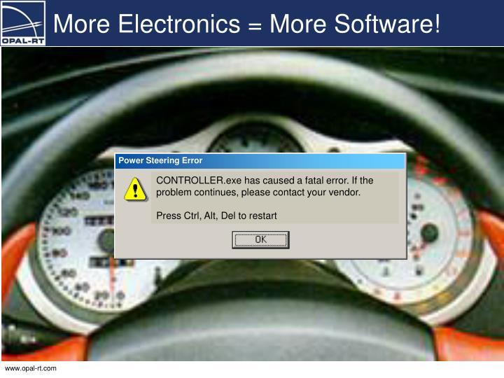 More Electronics = More Software!