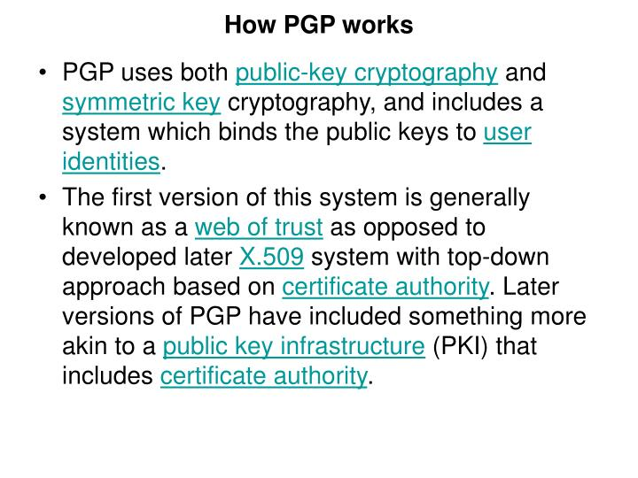 Pgp in cryptography ppt slides