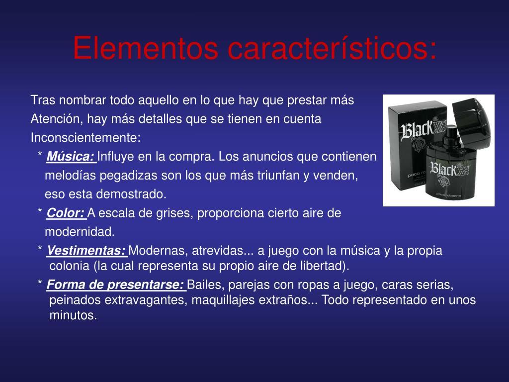 Elementos característicos: