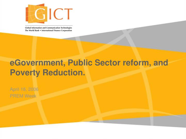 egovernment public sector reform and poverty reduction n.