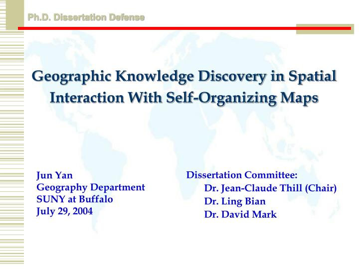 geographic knowledge discovery in spatial interaction with self organizing maps n.