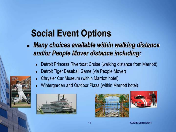 Social Event Options