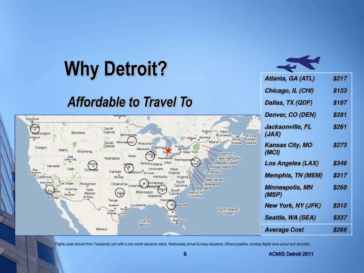 Why Detroit?
