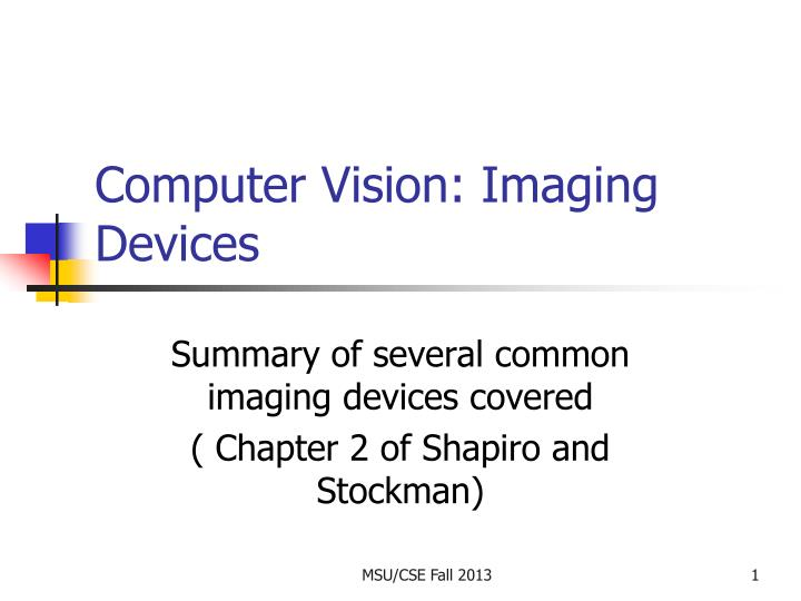 computer vision imaging devices n.