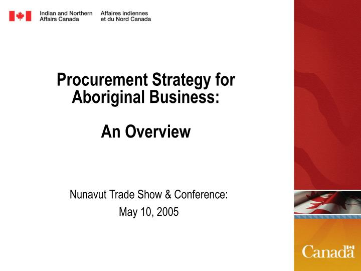 procurement strategy for aboriginal business an overview n.