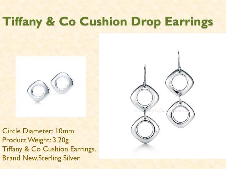 Tiffany co cushion drop earrings