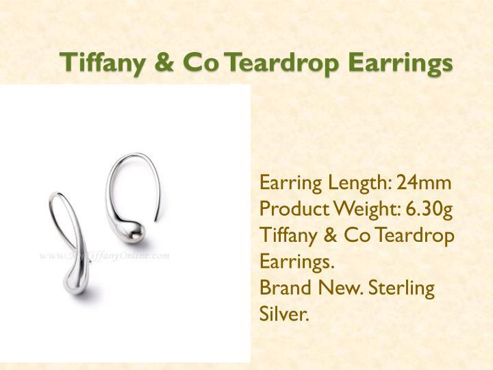Tiffany co teardrop earrings
