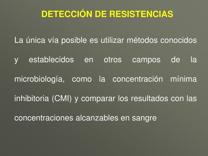 DETECCIÓN DE RESISTENCIAS