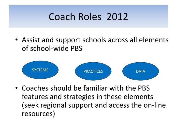 Coach Roles  2012