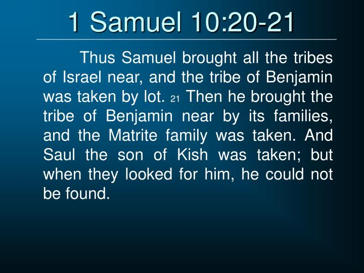 1 Samuel 10:20-21