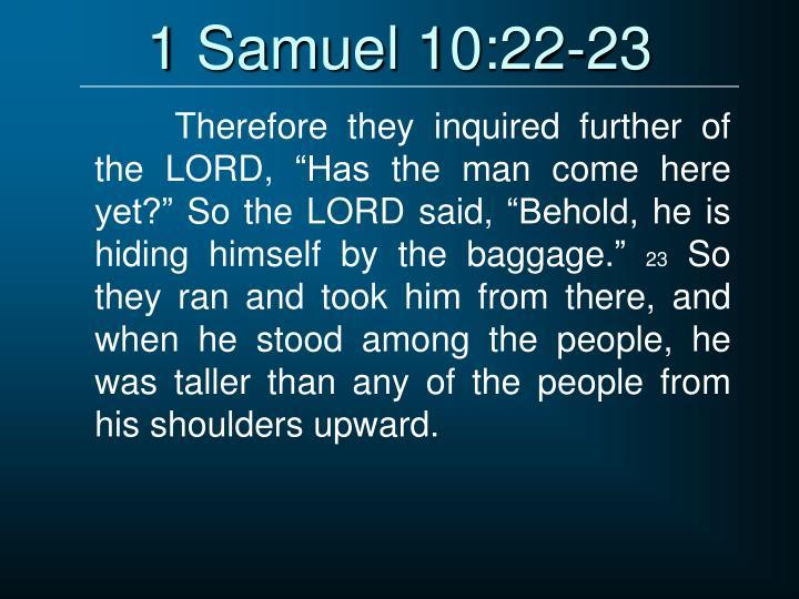 1 Samuel 10:22-23