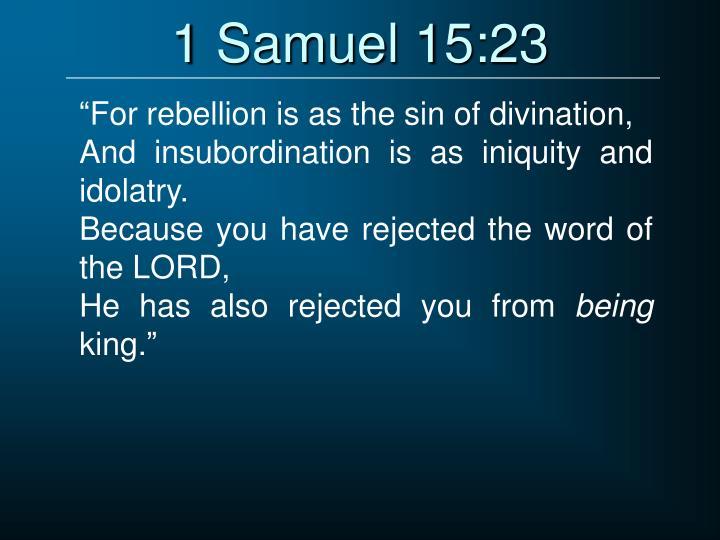 1 Samuel 15:23