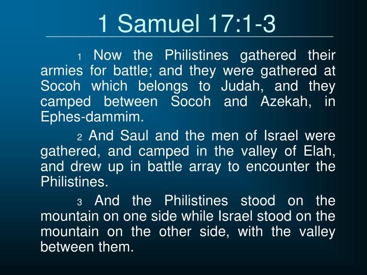 1 Samuel 17:1-3