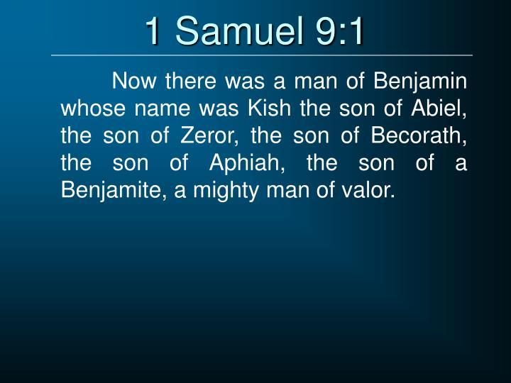 1 Samuel 9:1