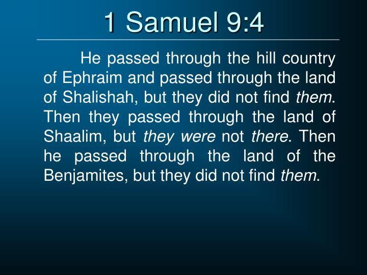 1 Samuel 9:4