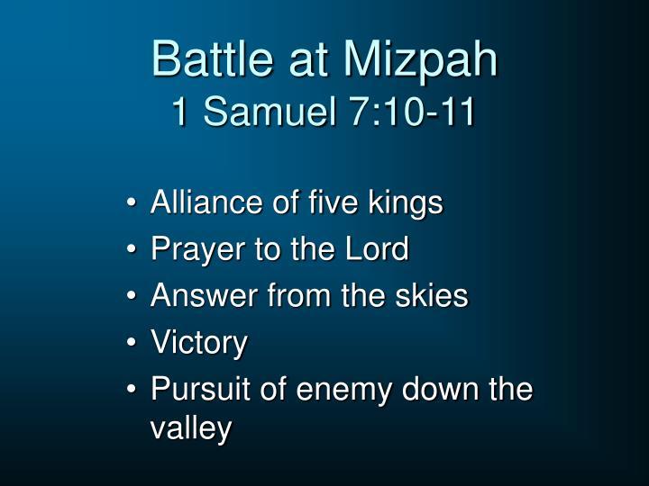 Battle at Mizpah