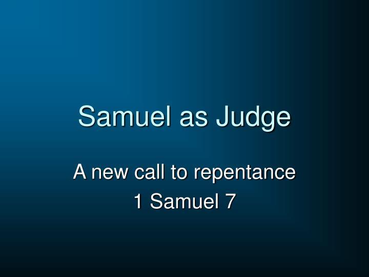 Samuel as Judge
