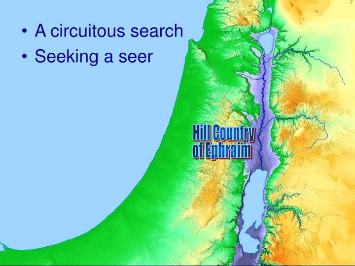 A circuitous search