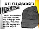 la fe y la arqueolog a