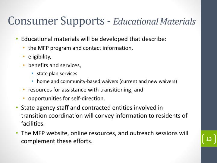 Consumer Supports -