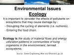 environmental issues ecology