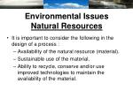 environmental issues natural resources