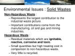 environmental issues solid wastes