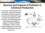 sources and impacts of pollution in chemical production