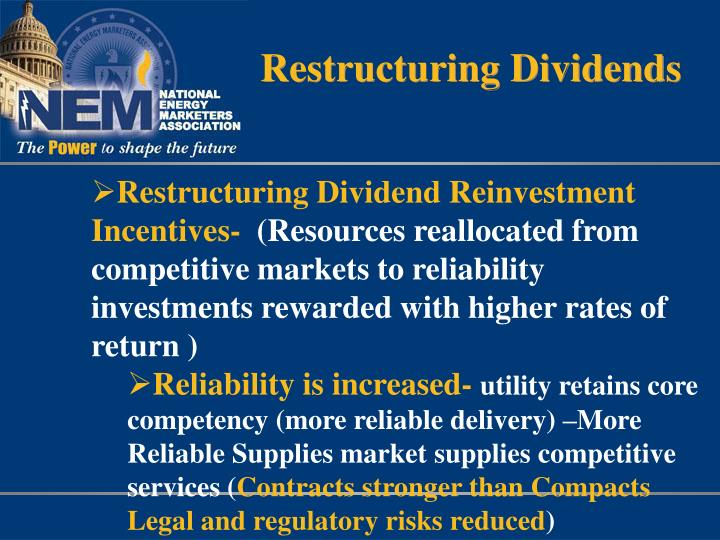 Restructuring Dividends