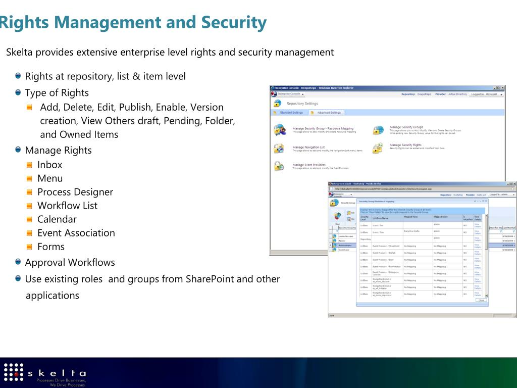 Rights Management and Security