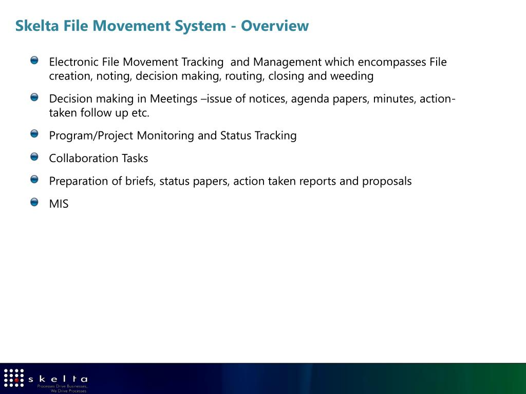 Skelta File Movement System - Overview