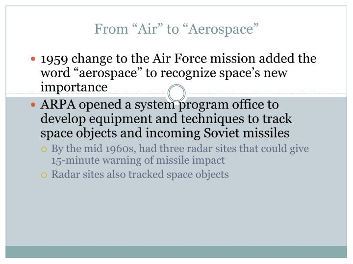 "From ""Air"" to ""Aerospace"""