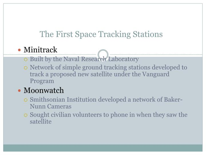 The First Space Tracking Stations