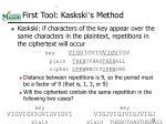 first tool kaskski s method