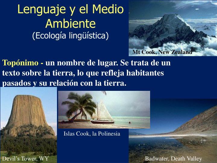 Lenguaje y el Medio Ambiente