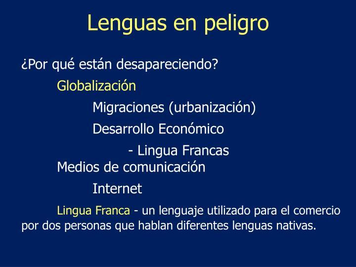 Lenguas en peligro