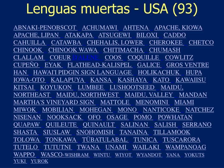 Lenguas muertas - USA (93)